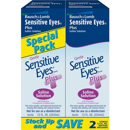 Sensitive Eyes Plus: Sensitive Eyes doux plus w / potassium, un composant de larmes naturelles solution saline, 12 Fl Oz