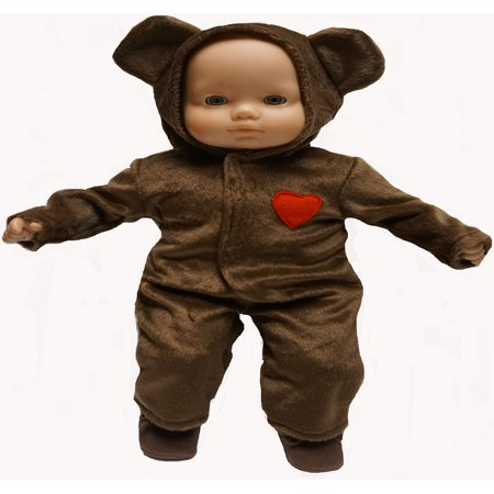 Brown Bear Halloween Costume Fits 15-16 Inch Baby Dolls