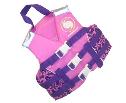 Coast Guard Approved Childrens Life Vests Pink L by Blue Wave