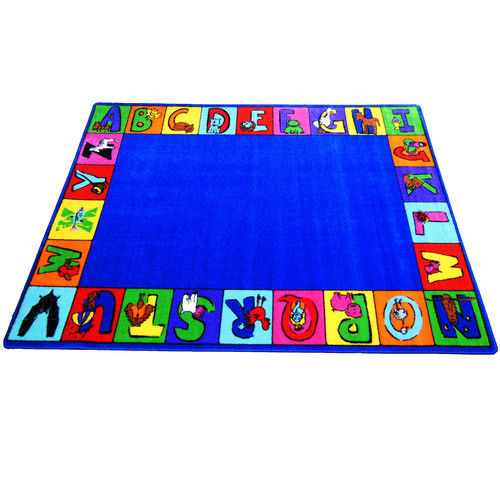 Kids World Carpets My ABC Squares Area Rug