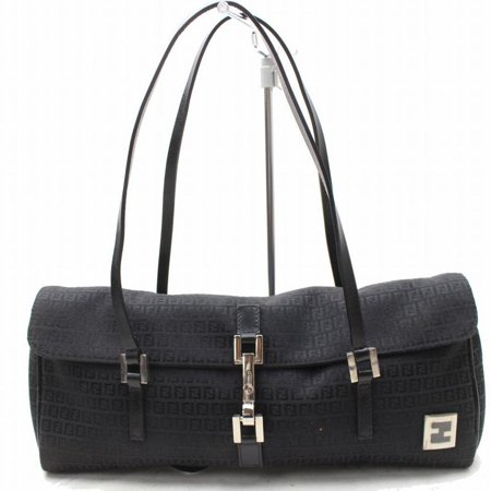 - Monogram Ff Round Boston 868804 Black Canvas Shoulder Bag