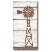 Courtside Market Farmhouse Windmill II Gallery-Wrapped Canvas Wall Art, 12x24
