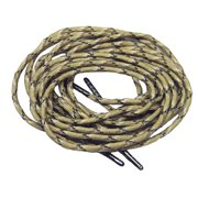 87 Inch 220 cm DESERT CAMO 550 Paracord with Black Steel Tips; 2 Pair pack of the Strongest shoelaces boot laces Available