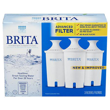 e1b71656678 Brita Water Filter Pitcher Replacement Filters 3.0 ea (Pack of 4 ...