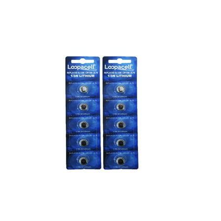 Loopacell 1/3N Battery Replacement for DL1/3N CR1/3N 3V Lithium Battery Pack of 10 (Dl 1 3n Battery)
