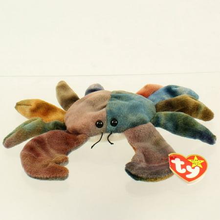 TY Beanie Baby - CLAUDE the Crab (PVC Pellets - 4th Gen - All CAPS Error) MWMT's