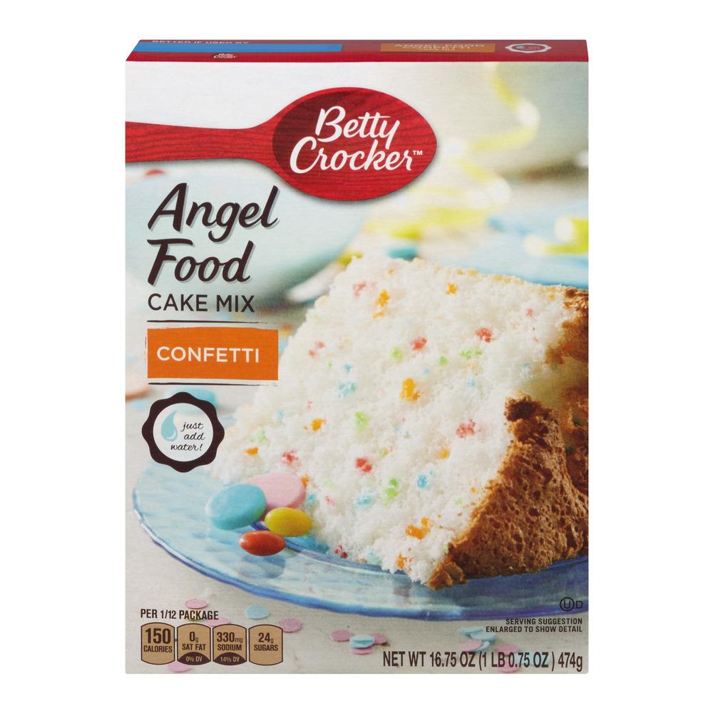 Betty Crocker Fat Free Confetti Angel Food Cake Mix 16.75 oz Box, 16.75 OZ by General Mills, Inc.