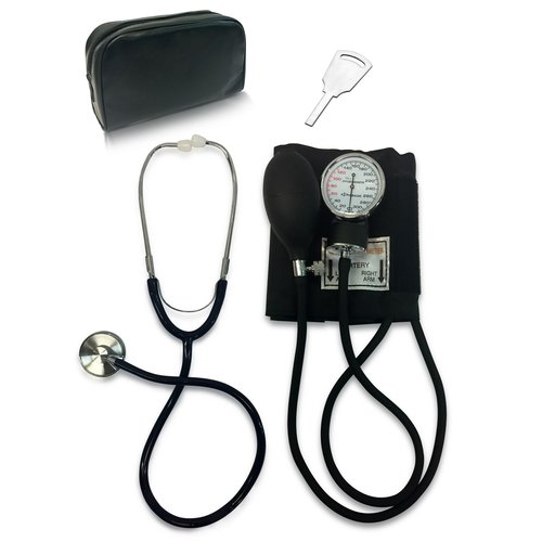 Primacare DS-9197-BK Classic Series Adult Blood Pressure Kit with Stethoscope, Black