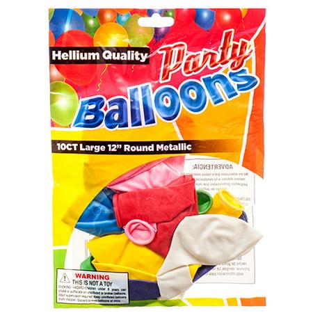 New 374458  Balloon Metallic 12 10Ct Asst Clr (12-Pack) Party Set Cheap Wholesale Discount Bulk Party Supplies Party Set Candle Holder Pedestal - Party Supplies For Cheap