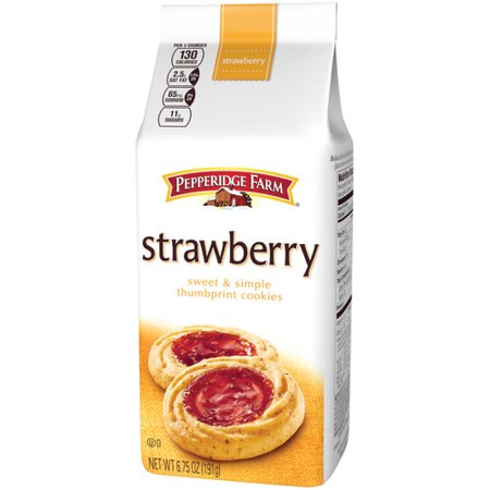 - (3 Pack) Pepperidge Farm Strawberry Thumbprint Cookies, 6.75 oz. Bag