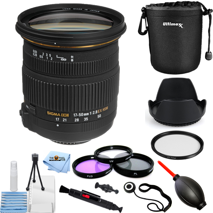 Sigma 17-50mm f/2.8 EX DC OS HSM Zoom Lens for Nikon DSLRs PRO BUNDLE