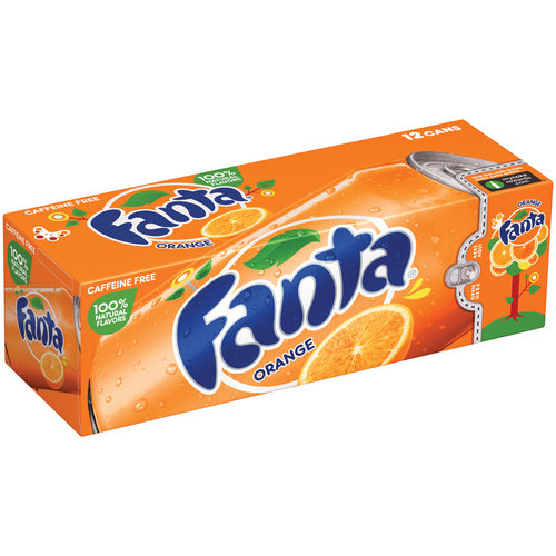 Fanta Orange Soda Fridge Pack, 12 ct, 144 fl oz