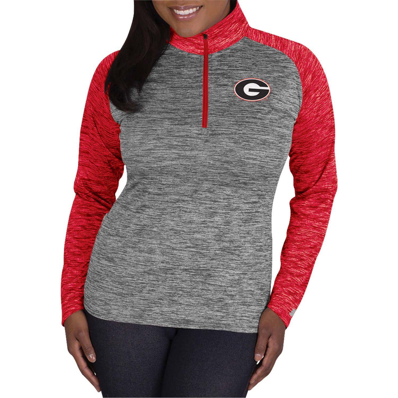 NCAA Georgia Bulldogs Ladies 1/4 Zip Athletic-Fitness Pullover