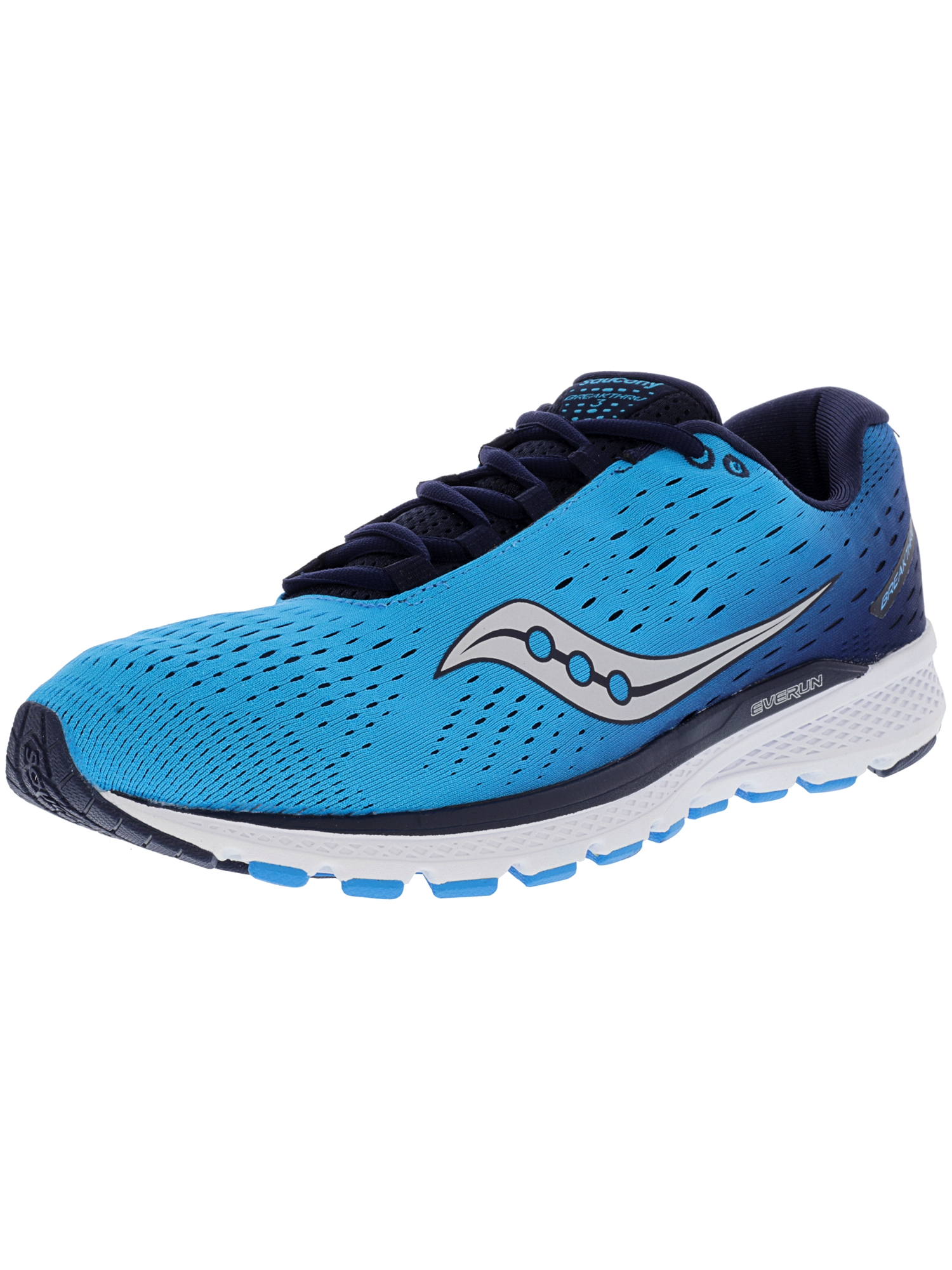 Saucony Men's Breakthru 3 Blue   Navy Ankle-High Running Shoe 9M by Saucony