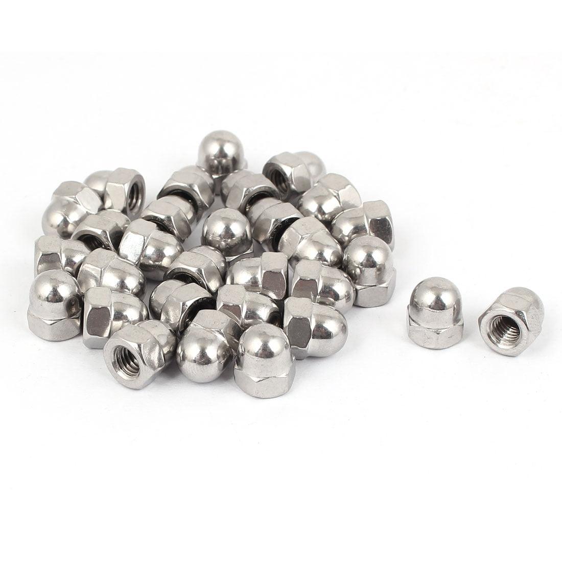 M12 Thread Dia 316 Stainless Steel Dome Head Cap Acorn Hex Nut Silver Tone 4pcs