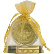 Honey House Naturals GLB2V 2 Piece Gift Set Small Vanilla Bee Bar Vanilla Almond Lip Butter, Organza Bag