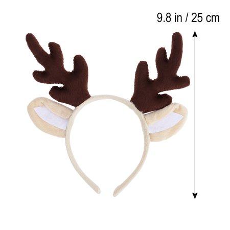 Kids Reindeer Antlers (Reindeer Antler Hair Hoop Christmas Kids Headband Headwear for Children Christmas Costume Party)