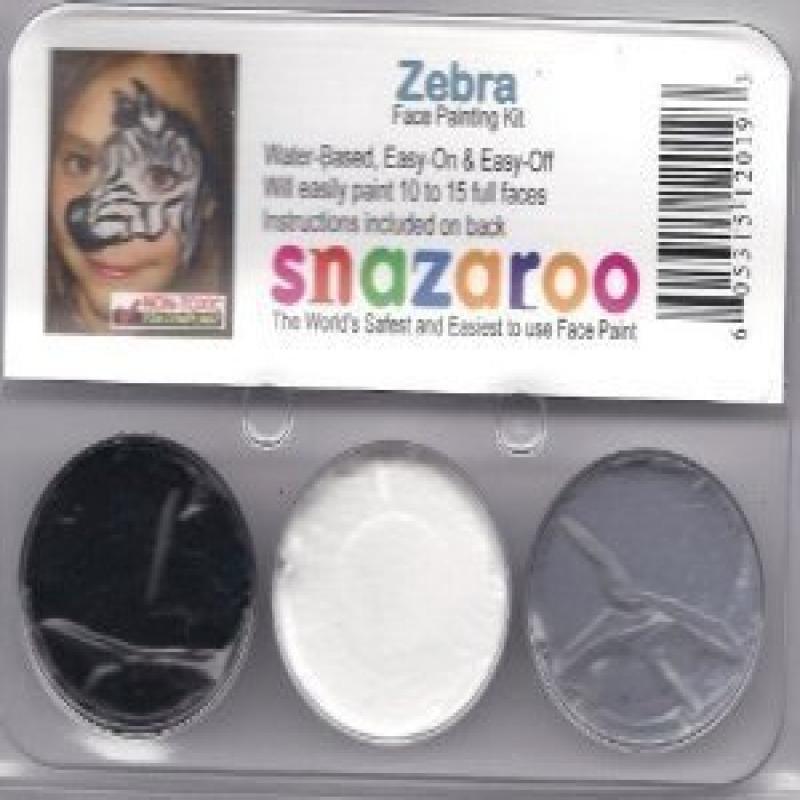 Snazaroo Zebra Face Paint Theme Kit Walmart Com Walmart Com