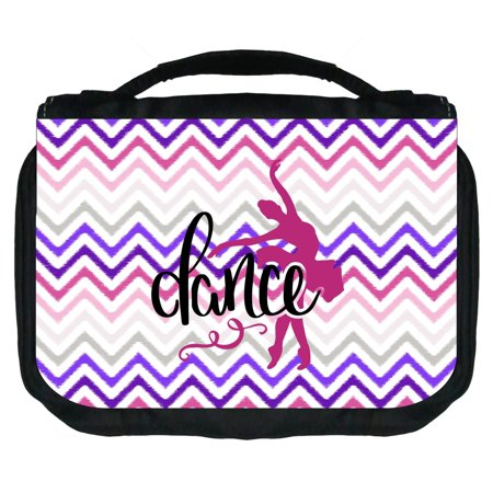 Dance Small Travel Toiletry / Cosmetic Case with 3 Compartments and Detachable Hanger