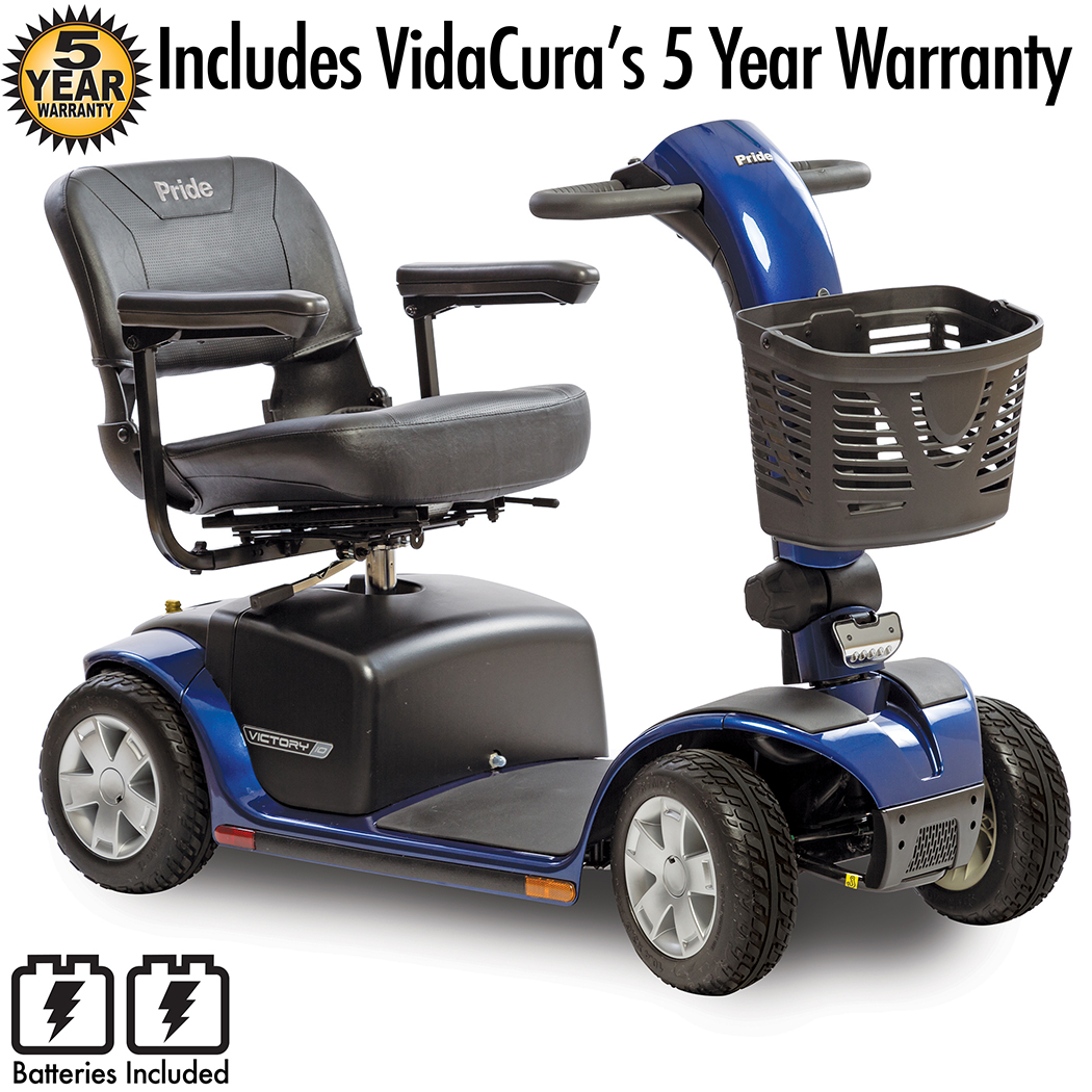 Pride Mobility Victory 10 4 Wheel Travel Scooter Red Including