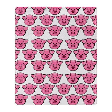 CafePress - Cute Pink Pigs - Soft Fleece Throw Blanket, 50