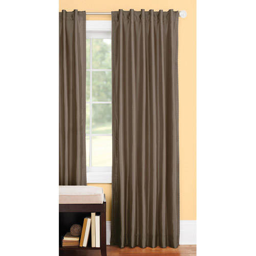 better homes and gardens thermal fauxsilk backtab window curtain panel - Curtains For Sliding Doors