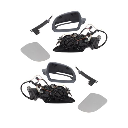 09-11 Audi A6 S6 Pair of Power Folding Side View Door Mirrors Left + Right  Set Heated Signal Memory Puddle Lamp