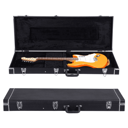 Tacoma Guitar Case (Electric Guitar Case Hard-Shell Case for Telecaster, Stratocaster Style with Lockable Latch & Storage Black )