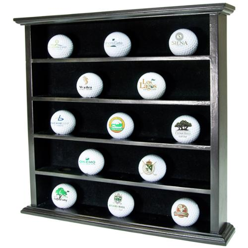 GOLF GIFTS & GALLERY Black Golf Ball Cabinet