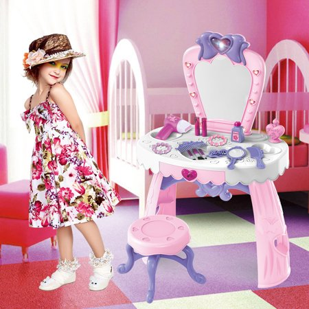 snorda Fantasy Vanity Beauty Dresser Table With Fashion & Makeup Accessories For Girls ()