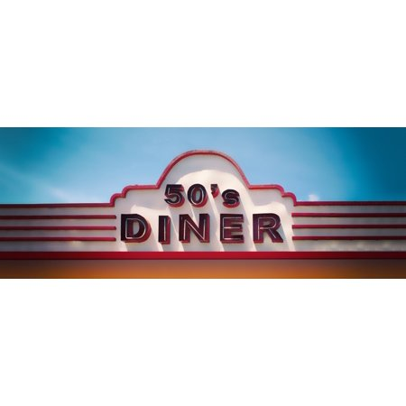 Low angle view of restaurant 50s Diner Baguio City Luzon Philippines USA Poster Print by Panoramic