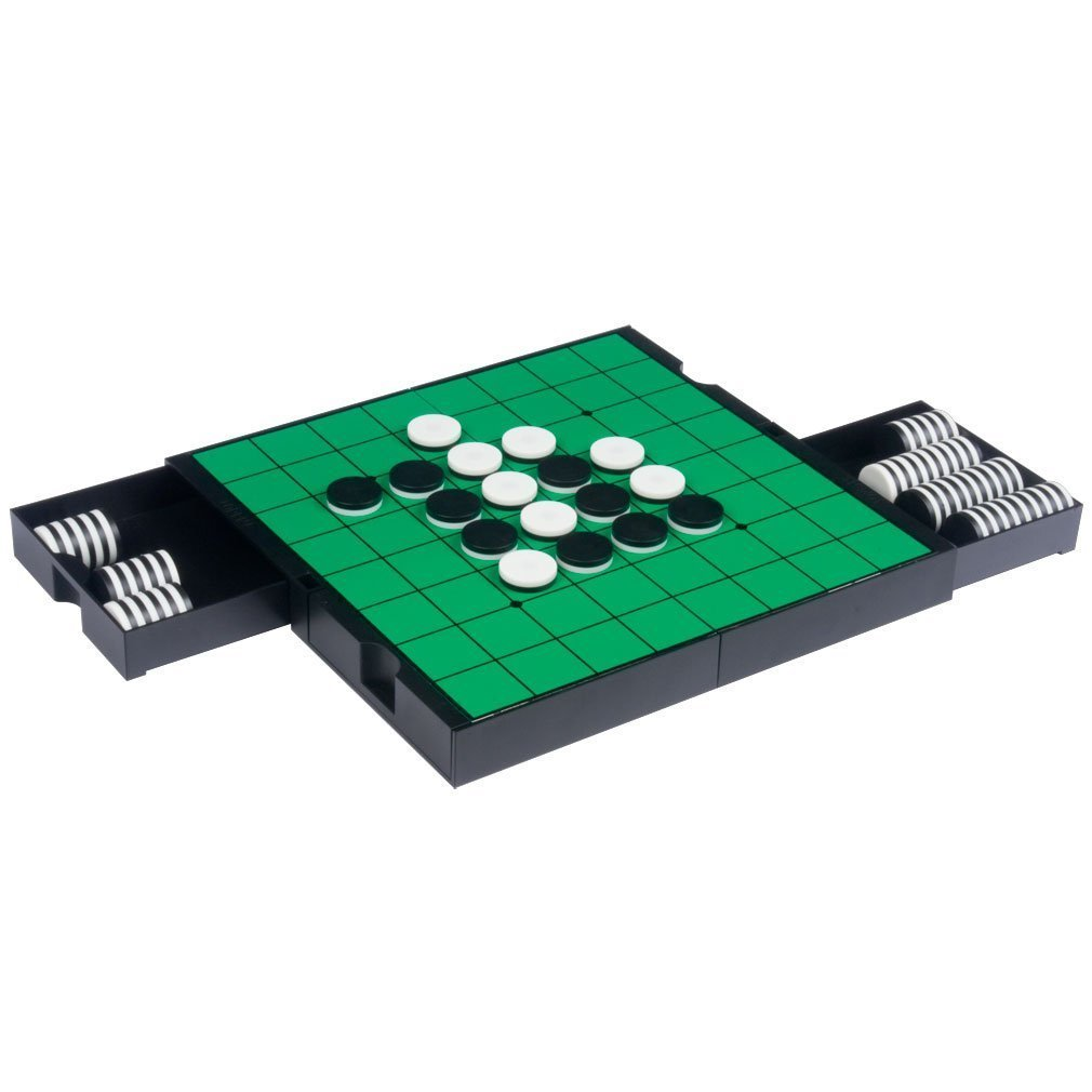 Qiyun 3 in 1 Travel Magnetic Chess, Checkers and Reversi Set - 9-7/8``