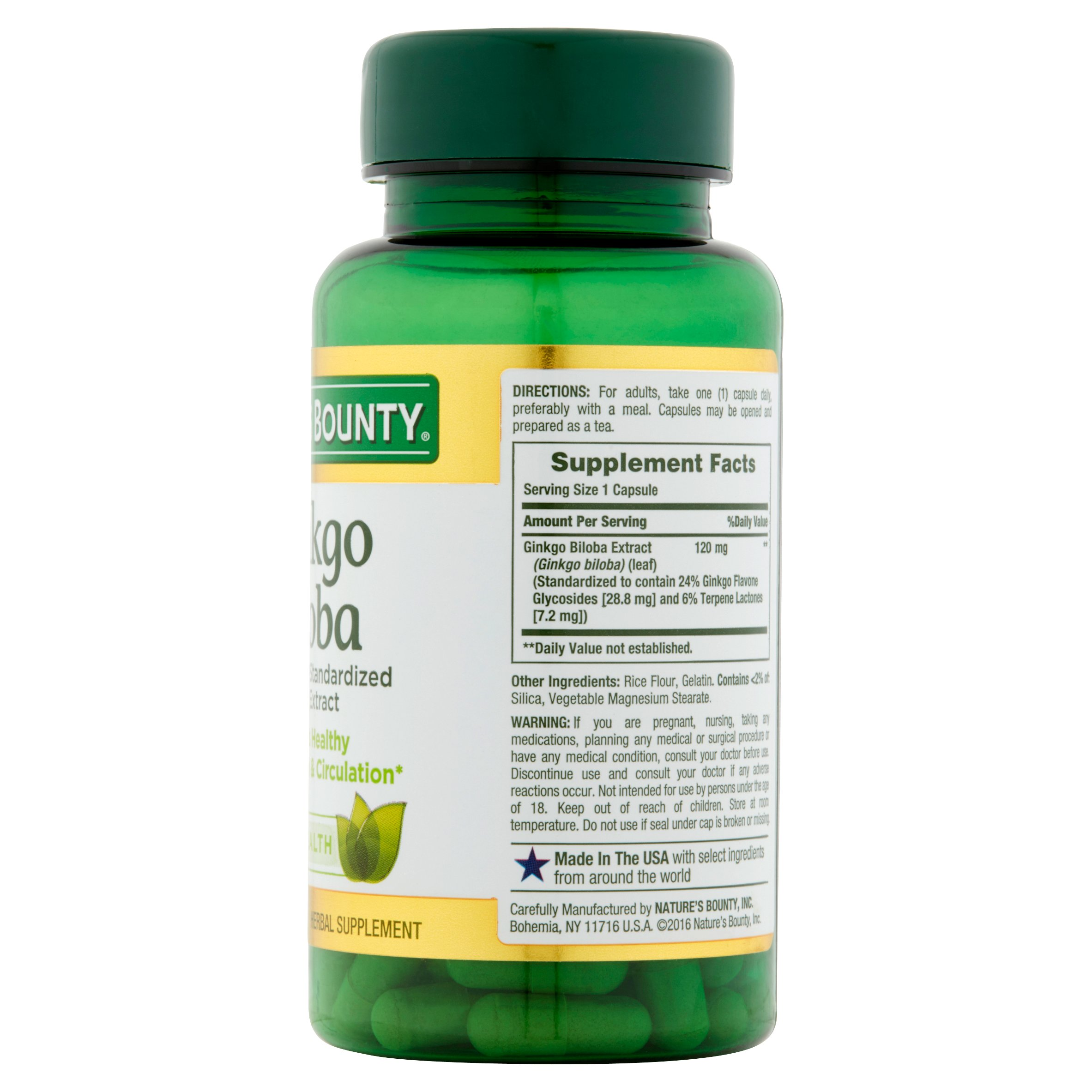 Natures bounty ginkgo biloba 120mg capsules 100 ct walmart thecheapjerseys Gallery
