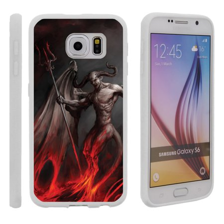 Samsung Galaxy S6 G920, Flexible Case [FLEX FORCE] Slim Durable TPU Sleek Bumper with Unique Designs - Demon with Wings](Demon With Wings)