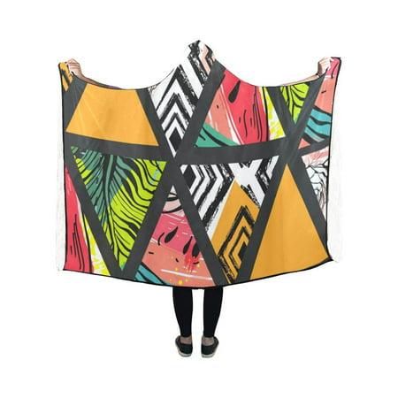 HATIART Hooded Blanket Summer Drawn Wearable Blanket Comfotable Hooded Throw Wrap Robe 40x50 Inch - image 2 de 3
