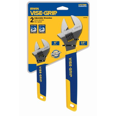 Irwin Vise Grip 2078700 Adjustable Wrench Set 2 Count