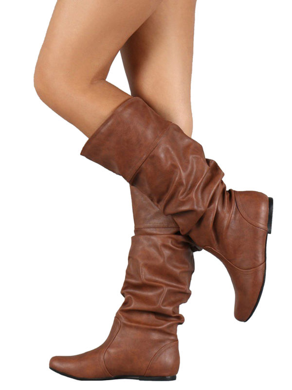 Wodstyle - Womens Slouch Mid-Calf Boots