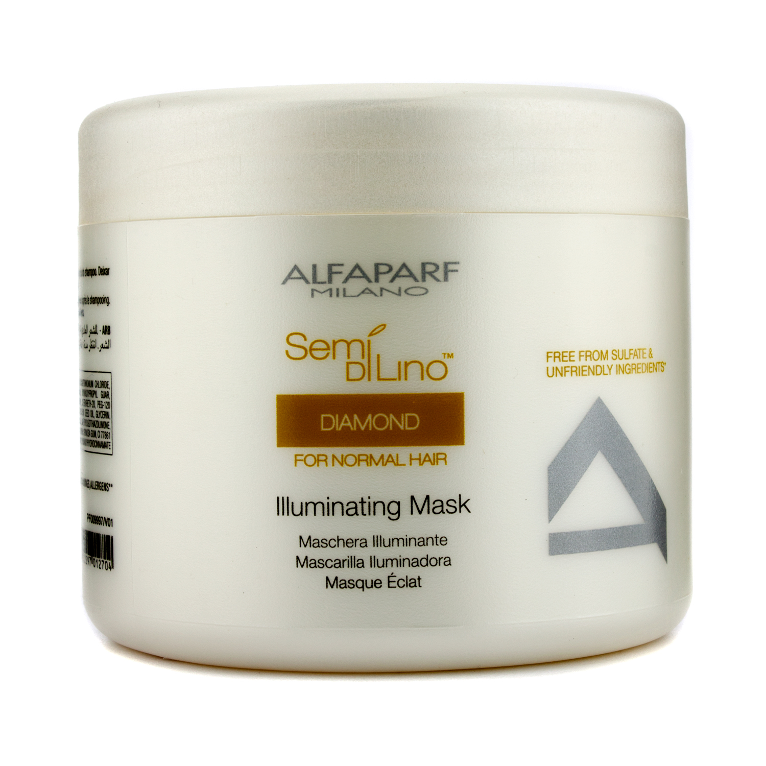 AlfaParf - Semi Di Lino Diamond Illuminating Mask (For Normal Hair) - 500ml/16.9oz