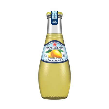Mini Sparkling Cider Bottles (Sanpellegrino Lemon Sparkling Fruit Beverage, 6.75 fl oz. Glass Bottles (24)