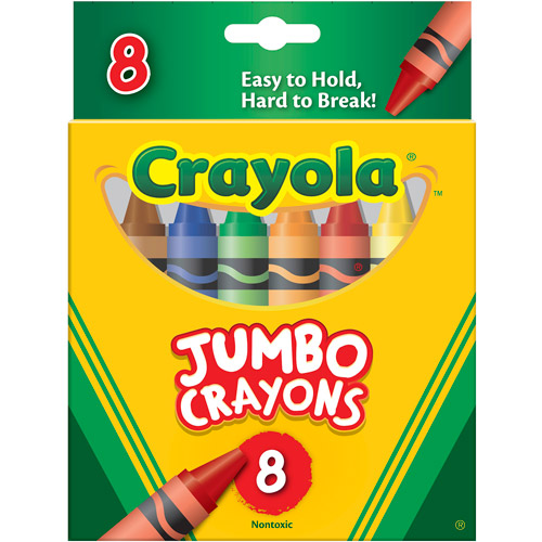 Crayola So Big Crayons, Large Size, 5 x 9/16, 8 Assorted Color Box