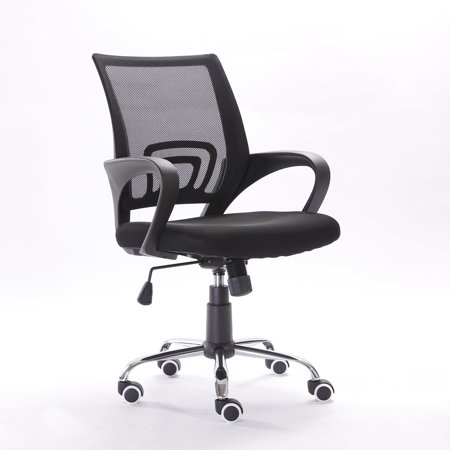Ktaxon Ergonomic Mid Back Mesh Computer Office Chair Desk Task Swivel Black