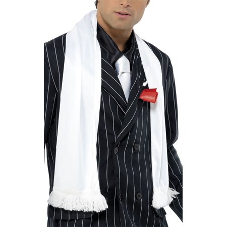 1920's White Scarf with Tassels Halloween Costume Accessory - Best Halloween Costume Themes For Work