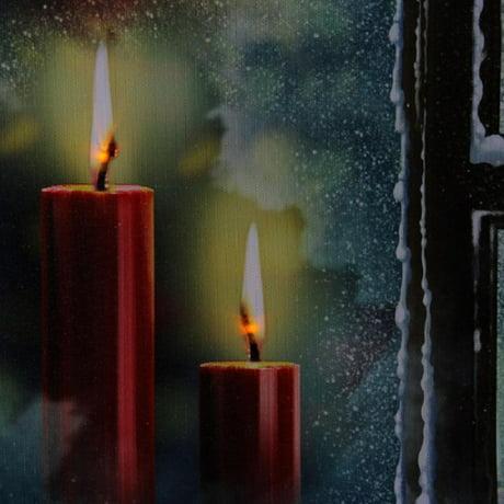 led lighted toile de neige carreau de fen tre et des bougies de no l wall art 12 x 15 75. Black Bedroom Furniture Sets. Home Design Ideas