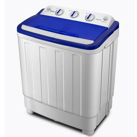 Ktaxon 16.6lbs(Wash 10LBS+Spin 6.6LBS)Portable Washing Machine with Twin Tub Electric Mini Compact Washer, Spin Cycle w/