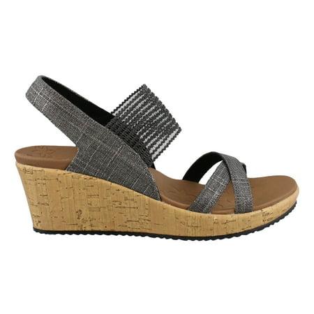 Women's Skechers, Beverlee High Tea Wedge Sandals