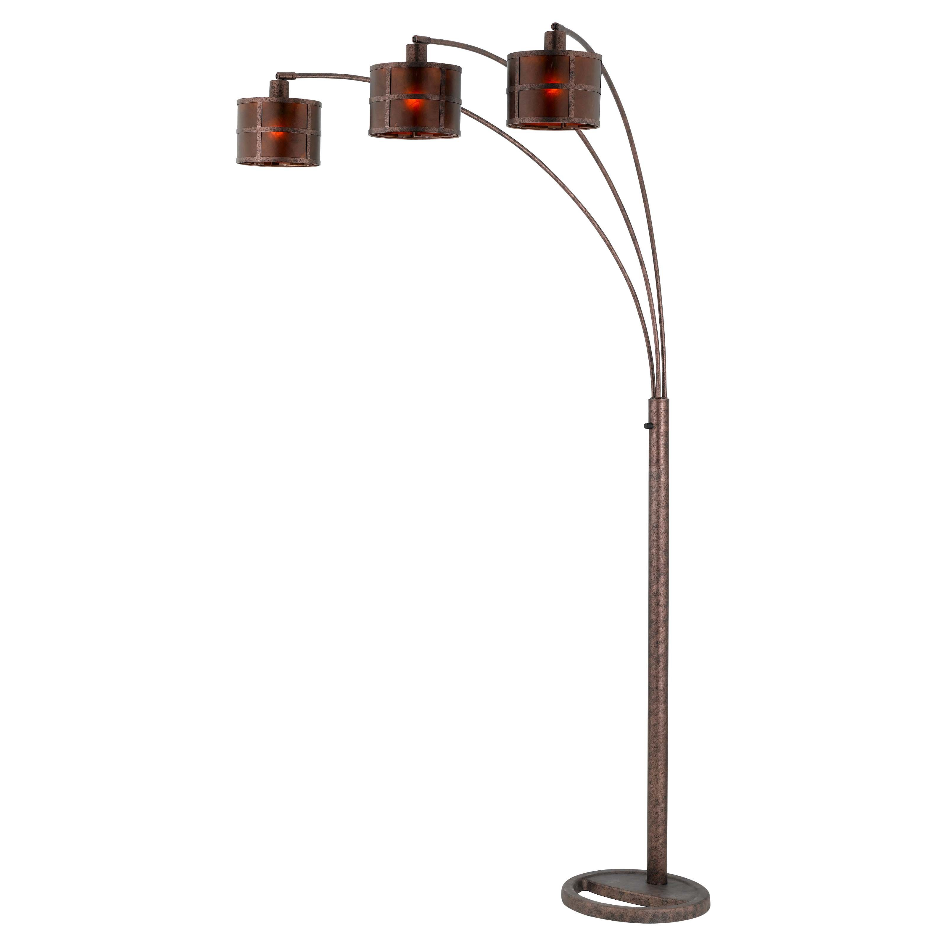 Cal Lighting BO-2036 Mica Arc Metal Floor Lamp with 3-Way Pole Switch by CAL Lighting