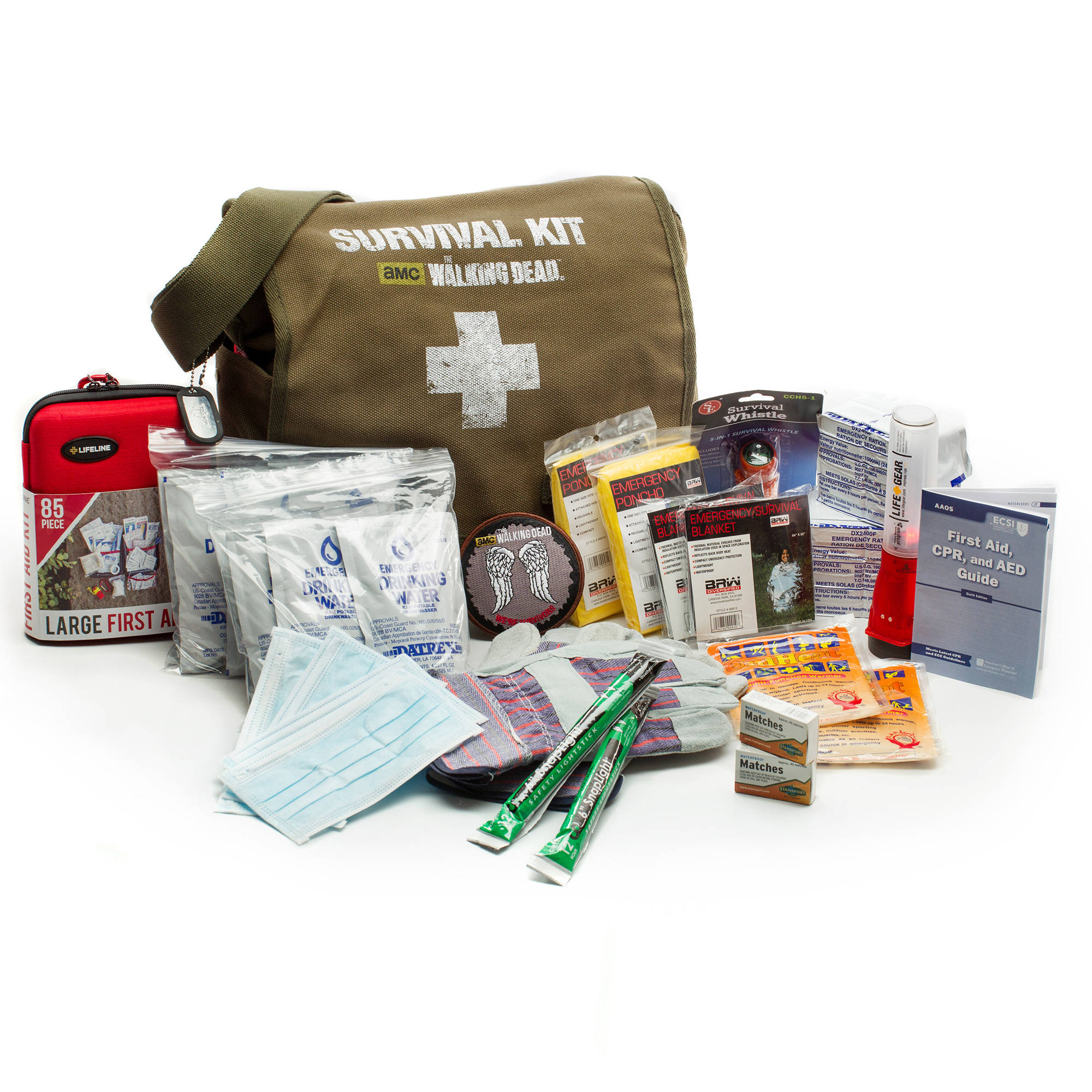 AMC The Walking Dead Survival Kit, 2 Person, 72 Hours by