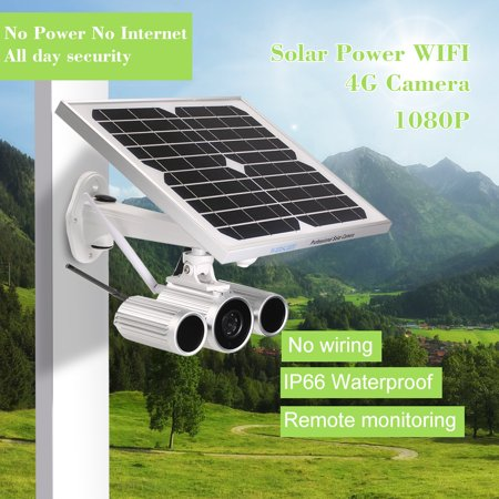 Wanscam 1080P Solar Power IP Camera 4G Wireless WIFI IP Camera IR-CUT Night  Vision 3G GSM CCTV Camera Video Surveillance Onvif IP Cameras with SIM