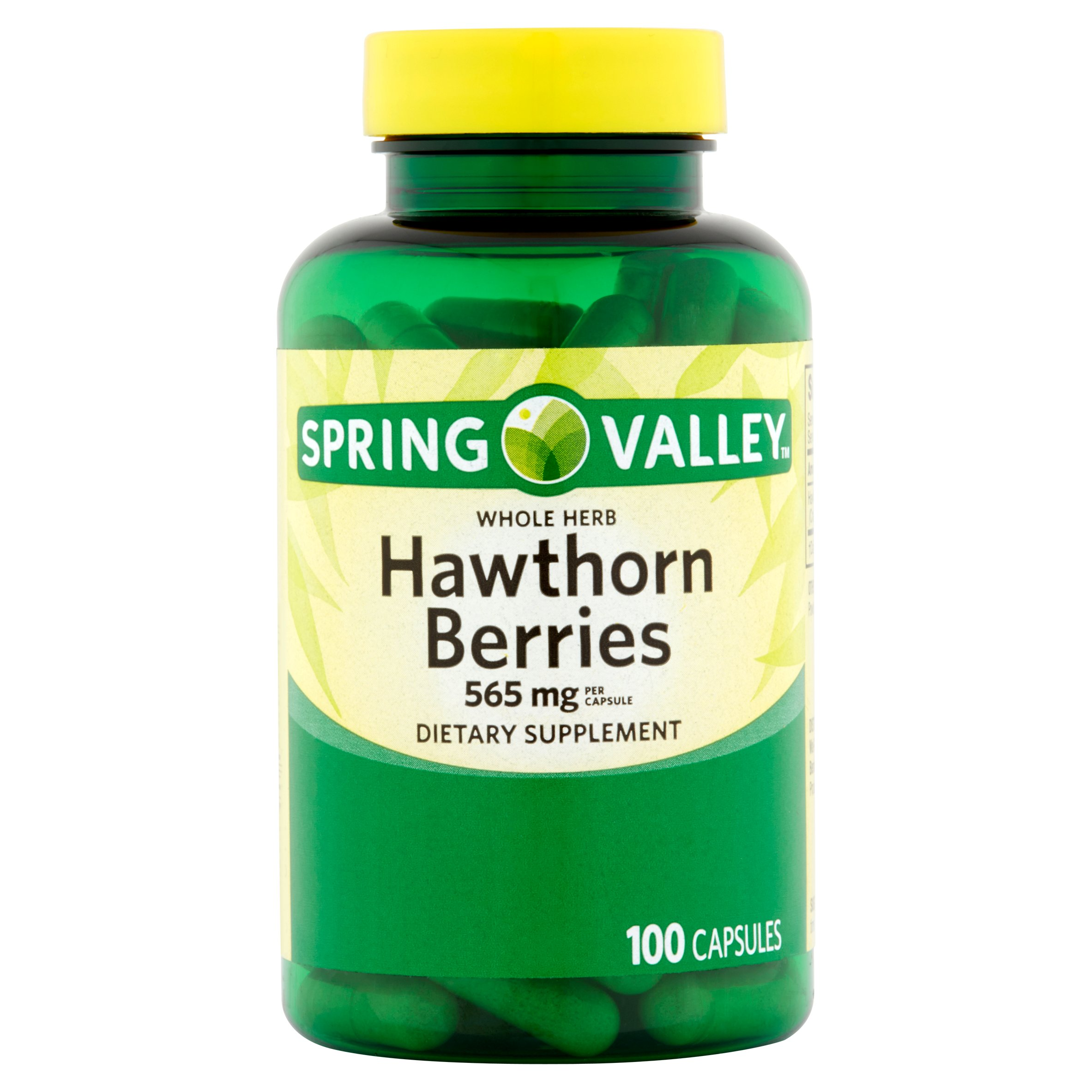 Spring Valley Whole Herb Hawthorn Berries Capsules, 565 mg, 100 Ct