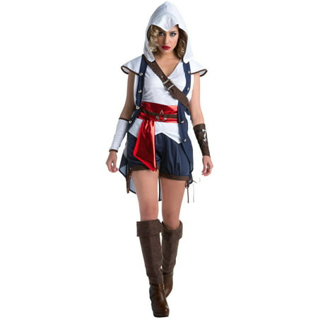 Assassin's Creed: Connor Female Women's Adult Halloween Costume](Cop Costume Female)